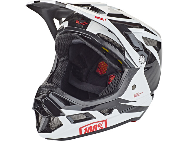 100% Aircraft DH Helm inkl. Mips rapidbomb/white